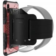 Para IPhone X Rueda Dentada Estilo TPU + PC Multi - Funcion De Proteccion Para Deportes Al Aire Libre Volver Funda Con Soporte Giratorio De 360 Grados Y Brazalete (oro Rosa)