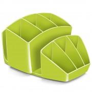 Suport instrumente de scris CEP Gloss, cu 8 compartimente, verde