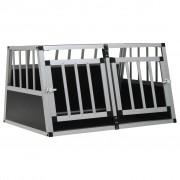 vidaXL Dog Cage with Double Door 89x69x50 cm