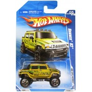 HOT WHEELS 2010 HW CITY WORKS 05 OF 10 YELLOW CITY PARK HUMMER H2