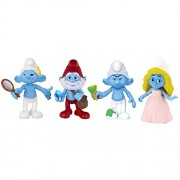 The Smurfs Movie Collectible 4 Pack Figure -Brainy Smurfette Papa Smurf & Clumsy