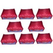 Shivanshshine High Quality Multipurpose Parachute Plain Saree Cover 8PC Capacity 10-15 Units Saree/Blouse Each(Multicolor)