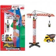 Simba toys dickie spielzeug 203463337 - set gru con veicoli del cantiere, 67 cm, colore: rosso/bianco