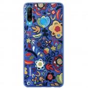 Huawei TPU Cover Flower P30Lite - Blå