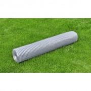 vidaXL Plasă de gard împletită galvanizată 25 m/grosime 0,75 mm