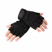 Ctsmart Outdoor Tractical Half-Finger Bike Riding Sun-resistant Gloves - Black (M)