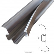 [neu.haus]® Rodapiés 2,5m color wengué zócalo pasacables PVC - 1 unidad
