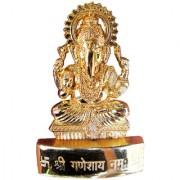 Gold Plated Ganesh ji Idol - 12 cms
