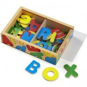 Комплект дървени букви с магнити в кутия, 10448 Melissa and Doug, 000772104487