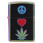 Brichetă Zippo 6345 Pot Leaf/Marijuana, Love & Peace Sign