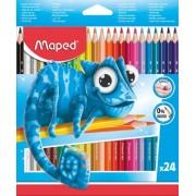Creioane colorate Pulse 24 culori/set Maped