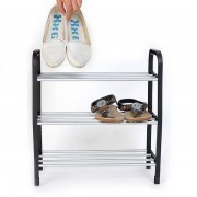 New Superior 3 Tiers DIY Assembly Plastic Shoes Rack Storage Organizer Assemble and Install Stand Shelf Holder Unit Light BS