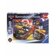 Puzzle Cars-Aventura Pe Sosea, 3X49 Piese Ravensburger