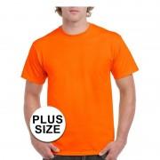 Gildan Grote maten fel oranje shirt voor volwassenen