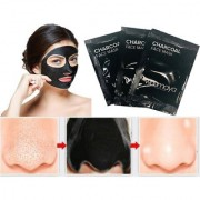 3Pcs Activated Black Charcoal Pore Deep Cleansing Nose Face Blackhead Remover Mask