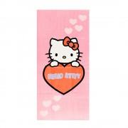 Плажна кърпа Hello Kitty 75x150 светло розово