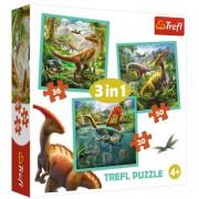 "Trefl Puzzle Slagalica ""3 in1"" The Extraordinary World Of Dinosaurs (34837)"
