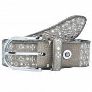 b.belt cintura borchiata pelle 85 cm grey