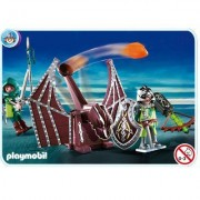 Playmobil 4840 - Chevaliers Dragons Verts Et Catapulte