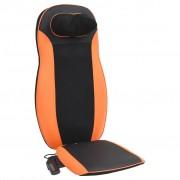 vidaXL Almofada de massagem para assento pescoço e costas 48 W