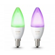 Philips KIT 2x Lampadina LED RGB dimmerabile Philips HUE WHITE AND COLOR E14/6W/230V