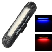 GUB M-39 100LM Waterproof USB Rechargeable Bicycle Dual Color Red/Blue LED Lights 6 Modes Safety Warning Light