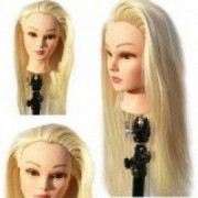 Cap practica Par Blond cu suport prindere