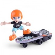 Sliding plate stunt scooter boy on skateboard with light and music for kids(Multicolor)