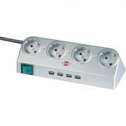 Brennenstuhl Listwa zasilająca Desktop Power, przełącznik i USB