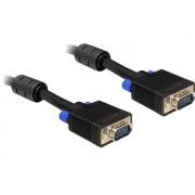 DeLock SVGA male-male kábel 15m Black 82561