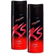 KS spark Deodorants for Men -(Kamasutra Deodorant for Men (Pack of 2))