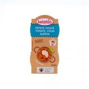 Babybio Bio édesburgonyás-paradicsomos finomság tőkehallal és quinoával 2 x 200 g