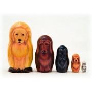 "Golden Retriever Dog Russian Nesting Doll 5pc./4"""