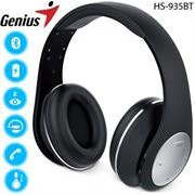Genius HS-935BT Wireless Bluetooth 4.1 Stereo Headset with Built-in Microphone - Adjustable and foldable headband