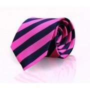 Krawatte Seide Fuchsia - Navy Streep FD10 - Fuchsia