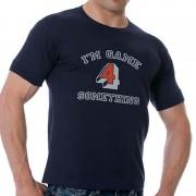 Good Boy Gone Bad I'm Game Short Sleeved T Shirt Navy