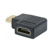 MANHATTAN 353496 :: Адаптер HDMI А/F към HDMI А/M, черен, 4К, извит на 90° надясно