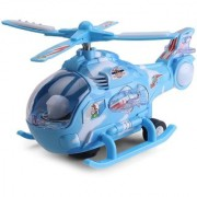 Helicopter with LED Lights on Wings Bump and Go Action Multi
