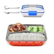 Elektromos ebéd doboz Termos 1,05 l Zöld