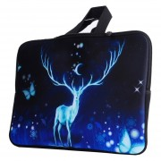 13,3 Pulgadas Azul Renos Patrón Portátil Bolsa De Nylon Bolsa De Aire De Macbook / Pro, Lenovo Y Otros Laptops Apple Macbook Air, Mac Book Cover, Mac Book Bag, Laptop Apple Cover, Tablet Pc Bolsa, Tablet, Tablet Pouch, Notebook Cover, Computer Y Netw
