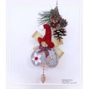 Decoratiune handmade cu lavanda - ingeras de aur