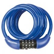 Spirálový kombinační zámek na kolo Master Lock 8221EURDPROCOL - 1,8m - modrý