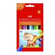 Creioane colorate eco Jumbo 24 culori/set FABER-CASTELL, FC116524