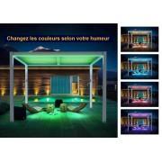 Bouvara Pergola bioclimatique avec éclairage Led 4x3m