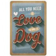 "Nostalgic-Art bord ""Love Dog"""