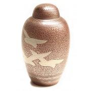Grote Messing Urn Vogels Rood (3.2 liter)