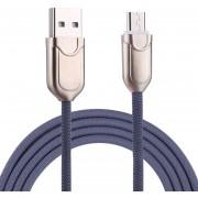 1m 2a Micro USB A USB 2.0 Cable De Sincronizacion De Datos Cargador Rapido Samsung Galaxy S7 Y S7 EDGE / LG G4 / Huawei P8 / Xiaomi MI4 Y Otros Smartphones (azul)