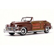 ModelToyCars 1948 Chrysler Town & Country Convertible, Brown - Sun Star 6143 1/18 Scale Diecast Model Toy Car