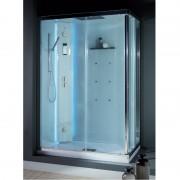 Box doccia idromassaggio rettangolare 140x80 cm White Space Vapor bianco
