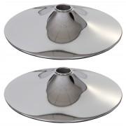 2x Bodenteller Fußteller für Barhocker Barstuhl Drehstuhl, chrom ~ Variantenangebot